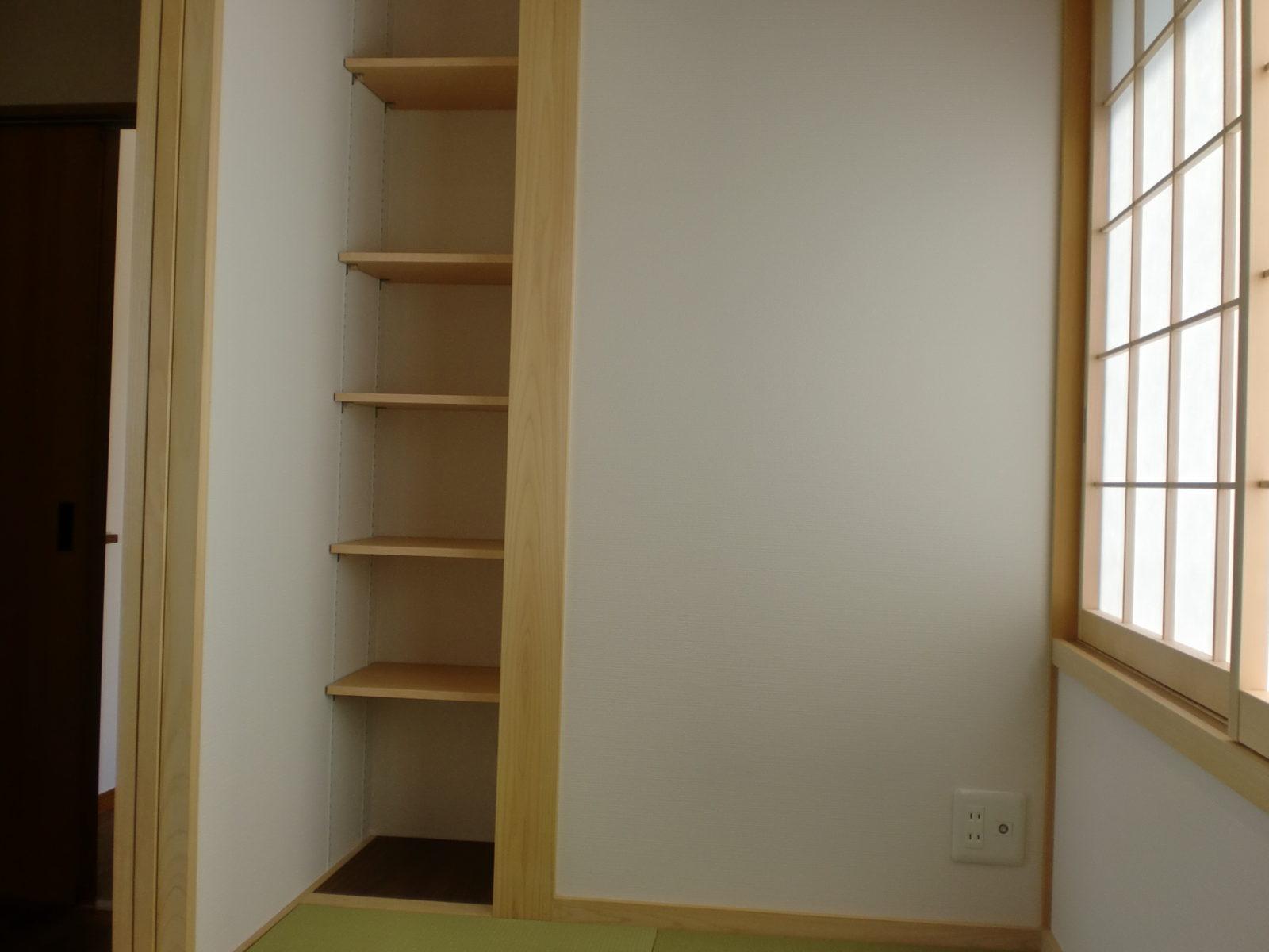 畳コーナーの棚